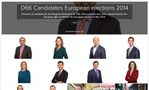The Dutch political party D66 lets creators upload shareable photos to Flickr. The benefits are that the photographer has followers who regurarly add photos to Wikipedia articles. These portraits for the European election were updated, by Wikipedia volunteers,  on the Wikipedia articles of the candidates one day after publication.